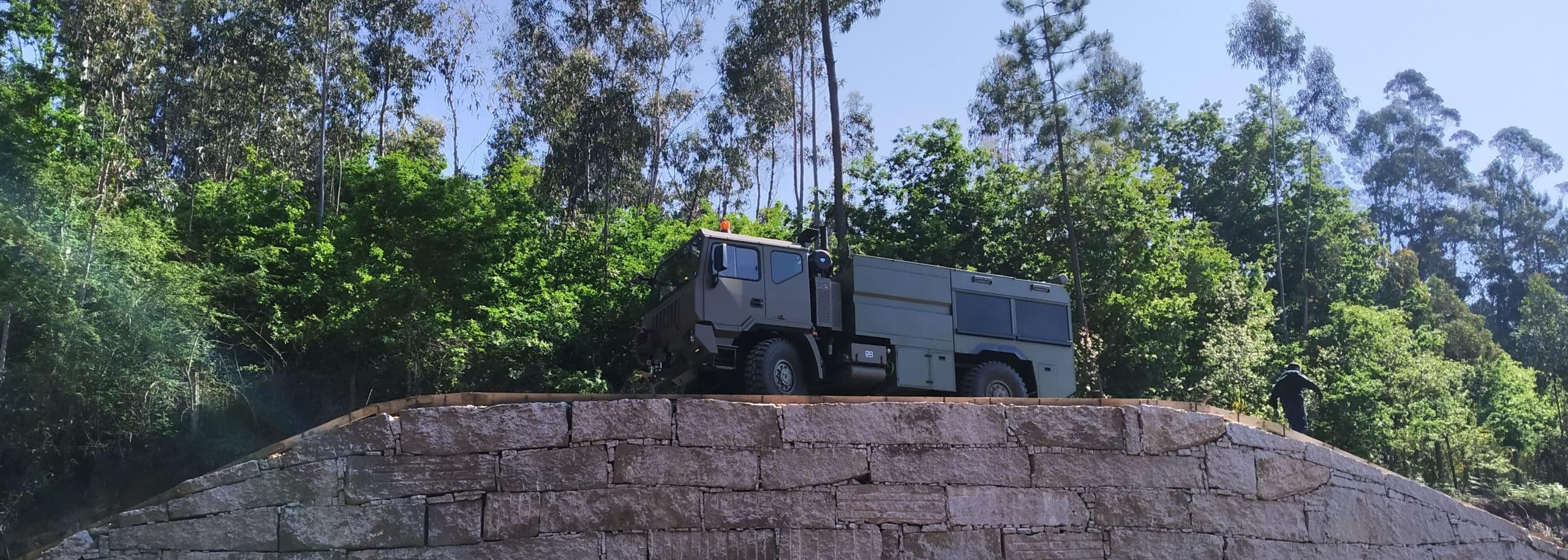 Vehículo contra incendios estructuras, sobre IVECO ASTRA 4X4